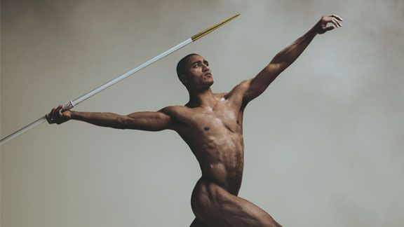 Olympic decathlete and former Oregon Duck Ashton Eaton posed for the ESPN The Magazine's 2012 Body Issue.