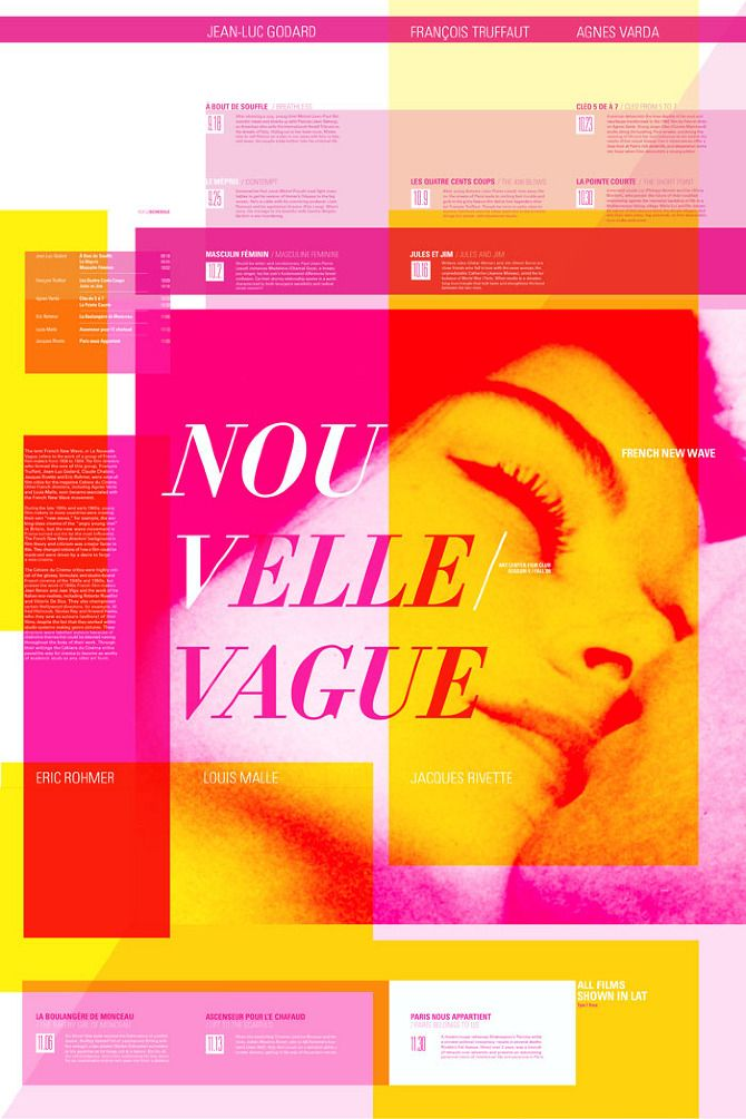 Poster Design: French New Wave Film Festival