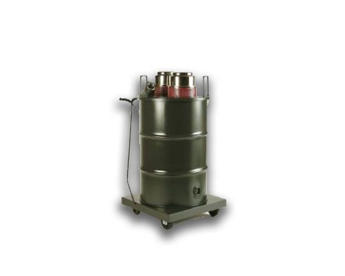 """The Minuteman X-250 industrial vacuum features twin motors with HEPA filter. The multiple filter system helps extend the life of the H.E.P.A. filter. Dry units allow for safe recovery of most dry, hazardous dust and non-toxic fine powders. Wet units allow for recovery of contaminated water and other liquids. Accepts 1 1/2"""", 2"""" or 3"""" hoses; top mount intake reduces clogging."""