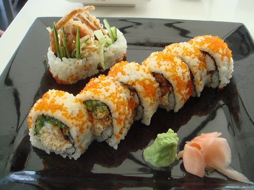 spicy crab sushi roll recipe - Google Search