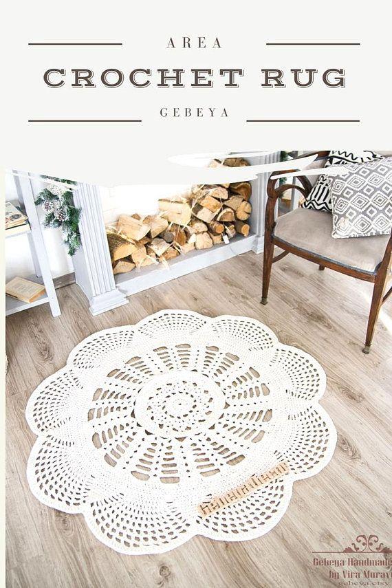 Area Rug Crochet Carpet Cotton