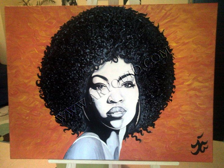 Paint me an Afro....