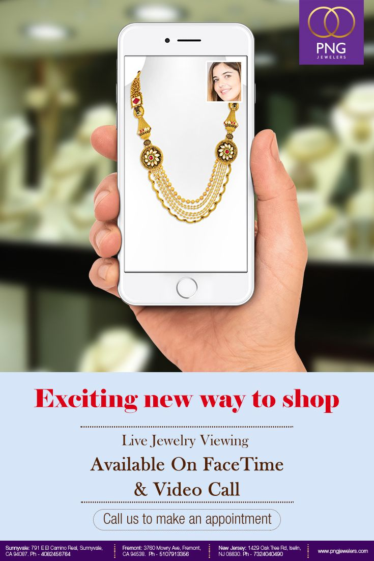 Now You Can Experience Live Jewelry Viewing From Your Screen Via Facetime And Videocall Call Us To Make Your Appointment Facetime Pinterest Photos Jewelry