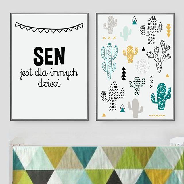 Plakaty dla dzieci - kaktusy
