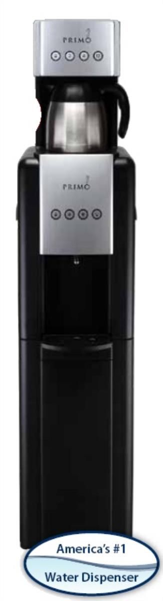 Are you looking to add a break area to your office? Consider the Primo 601001 hot and cold water dispenser and coffee maker.
