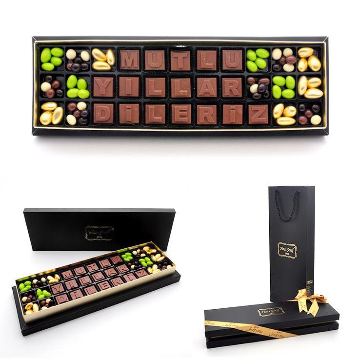 Yılbaşı Hediyeleri :: Mutlu Yıllar Dileriz Harf Çikolata - Yeni Yıl Hediyesi