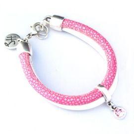 Pink Reptile Summer Bracelet   HippeSieraden   HippeSieraden.com