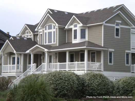 Duck North Carolina Beach Houses Front Porch Design And
