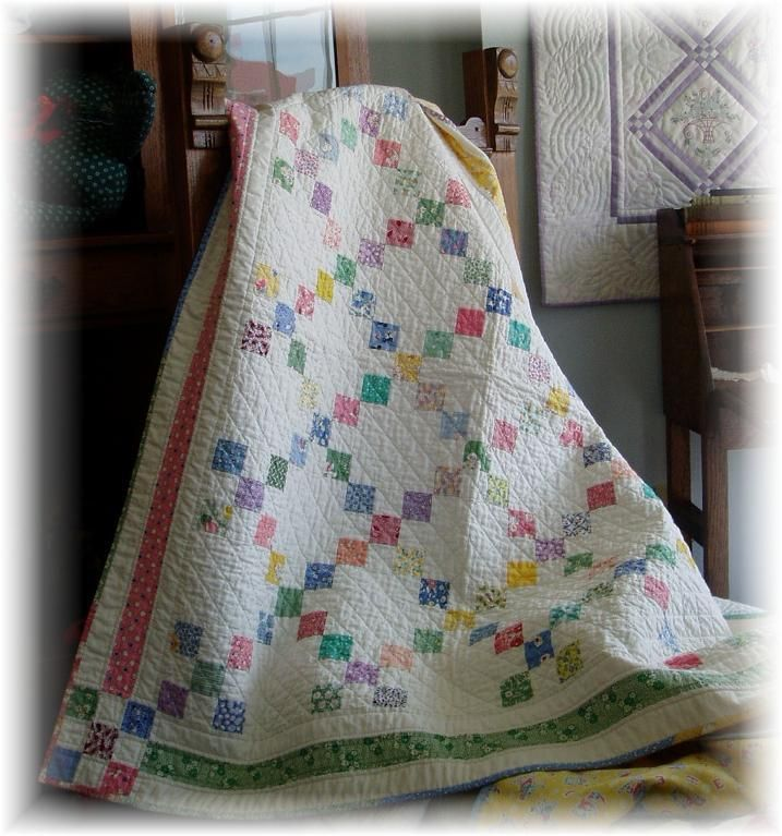 #405 9-Patch Crib ... by DianaBeaubien | Quilting Pattern - Looking for your next project? You're going to love #405 9-Patch Crib Quilt and Tableclothes by designer DianaBeaubien. - via @Craftsy