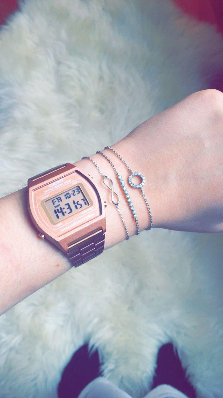 rose gold casio bracelets