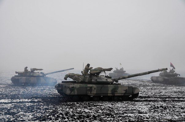 Azov regiment tanks in action.