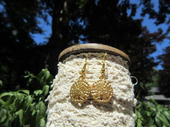 Ocean Earrings Tiny Sand Dollar Earrings Tiny Seahorse