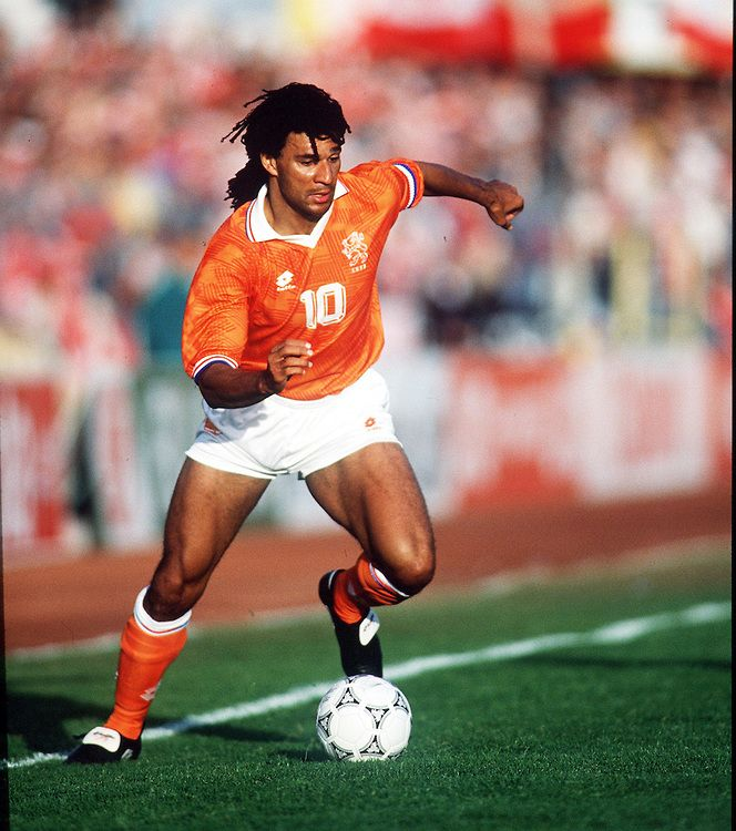 Ruud Gullit in action for Holland at Euro '92.