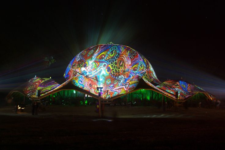 Ozora fest 2012 Dom projection by Night Projection.    #ozora #ozorafest #ozorafest2012 #fenyfestes #night_projection #raypainting #visual