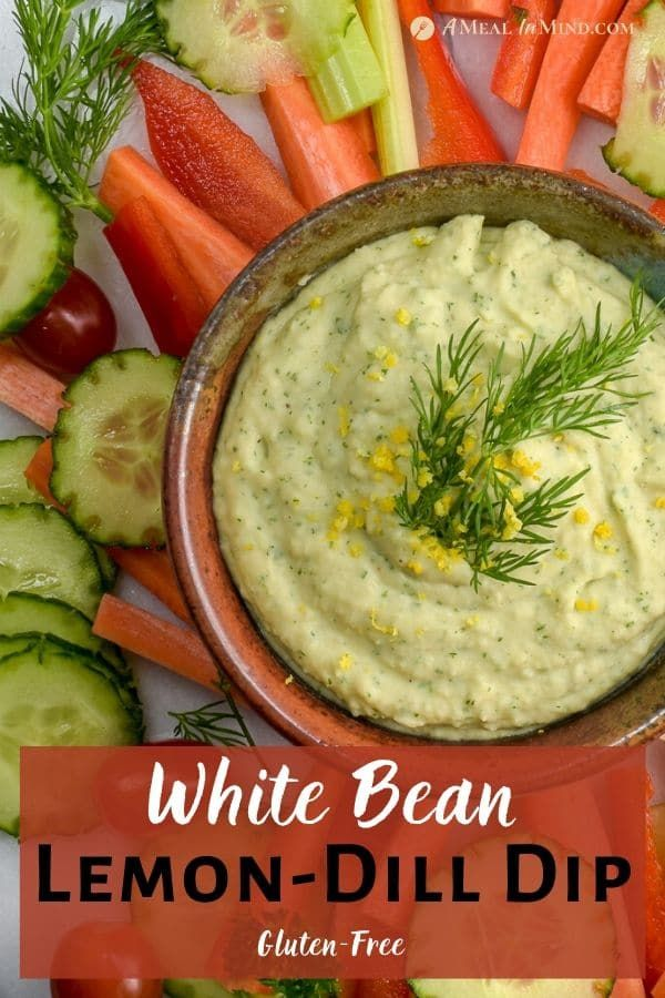 This 15-minute White Bean Lemon-Dill Dip is smooth and flavorful with vegetables or chips. It's a perfect, easy dip to m…