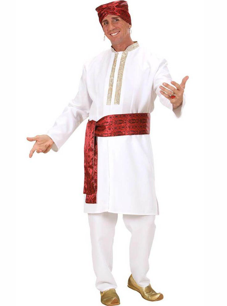 Disfraz de estrella de cine indio Bollywood para hombre