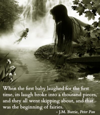 J.M. Barrie fairies quote- 14 Favorite Quotes from Childrens Books - P.S:You can lose weight fast at RaspTea.com