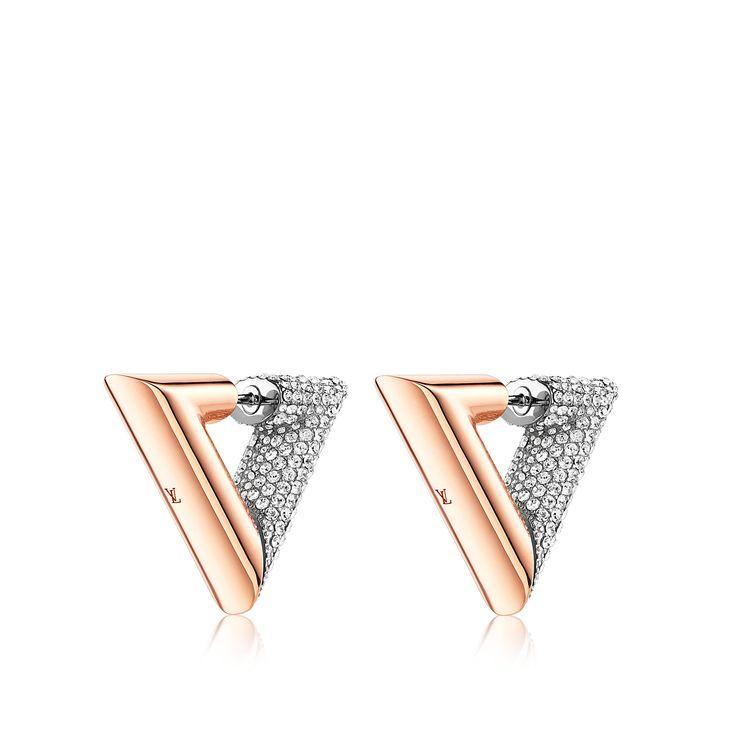 Entdecken Sie Essential V Strass Ohrringe via Louis Vuitton