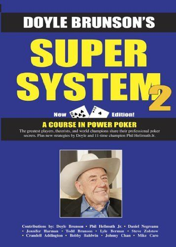 Super Systems 2 by Doyle Brunson. $6.11. Publisher: Cardoza Publishing (February 26, 2012). 663 pages #poker #facebook http://www.cartelpoker.com/freechips/