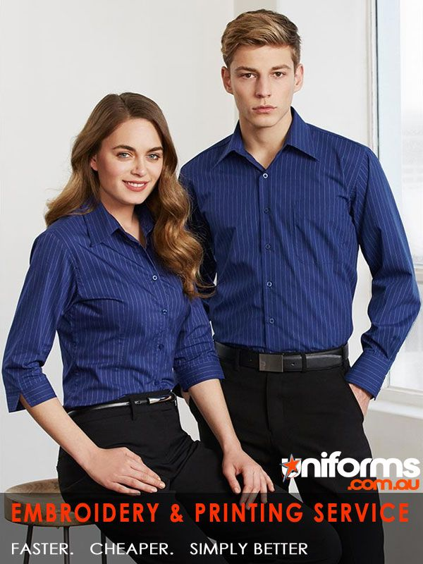 corporate uniforms online-Manhattan Stripe Shirt  65% Polyester 35% Cotton.Yarn dyed fabric. Popular while searching for corporate uniforms online Long sleeve Shirt with 2 back shoulder pleats. Curved hem - can be worn in or out.Single breast pocket  See more at:  https://www.uniforms.com.au/Uniform-Article/corporate-uniform.html