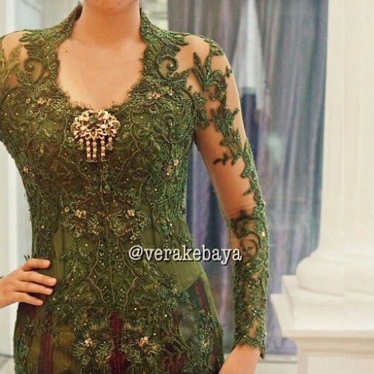 kebaya- this would be great without the gold medallion