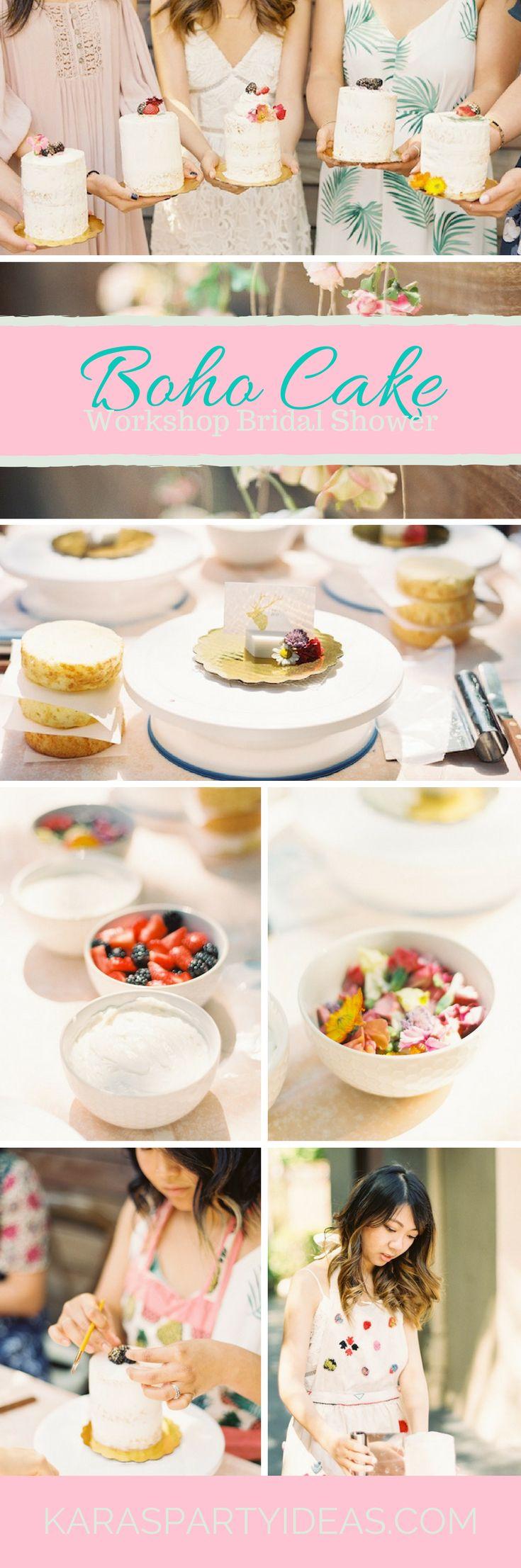 ideas for bridal shower brunch food%0A Boho Cake Workshop Bridal Shower