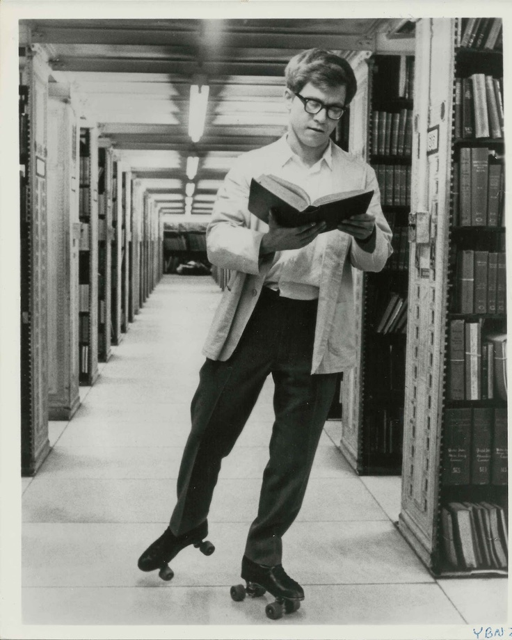 You're a Big Boy Now (1966). Peter Kastner plays Bernard Chanticleer, a 19-year-old roller-skating library page in the New York Public Library, who steals its Gutenberg Bible. Bernard's father is I. H. Chanticleer (Rip Torn), incunabula curator and secretary harasser. Amy Partlett (Karen Black) and Raef del Grado (Tony Bill) are library assistants. http://www.imdb.com/title/tt0061209/