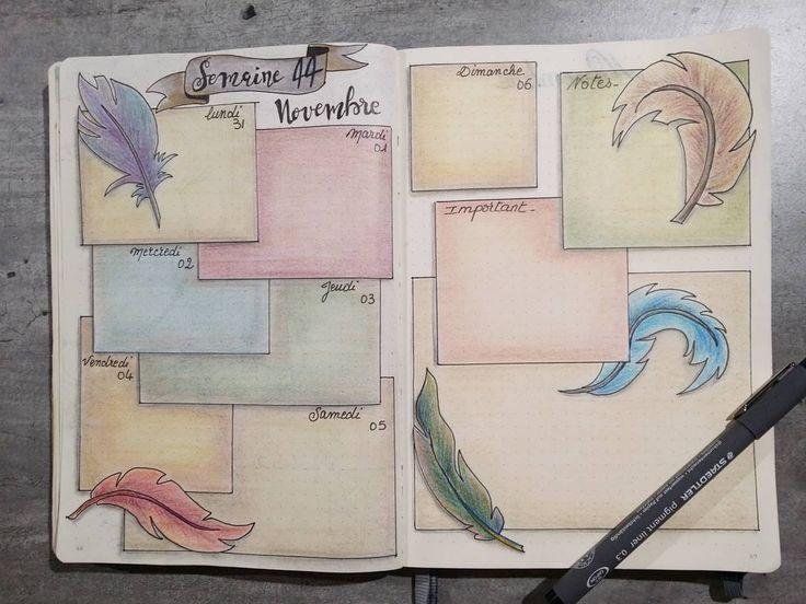 """169 Likes, 20 Comments - Intemporelle Création (@intemporelle.creation) on Instagram: """"Ma semaine 44 dans mon bullet journal... 1ere semaine de novembre. #bulletjournal #bujo…"""""""