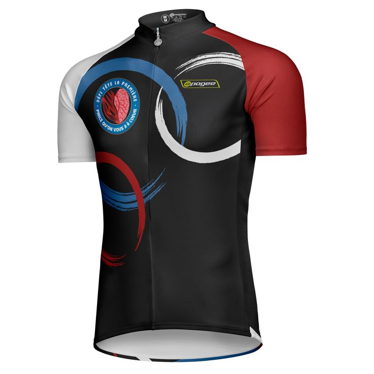Cycling jersey - Designed and made by Apogee Sports.   Client : Défi tête première