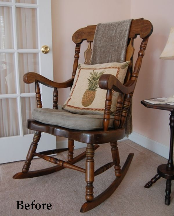 Enjoyable Rocking Chair Makeover With Chalk Paint Tattoo Ideas Spiritservingveterans Wood Chair Design Ideas Spiritservingveteransorg