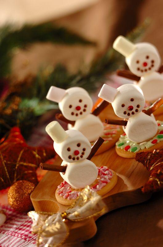 #クリスマス #recipe #snowman #マシュマロ