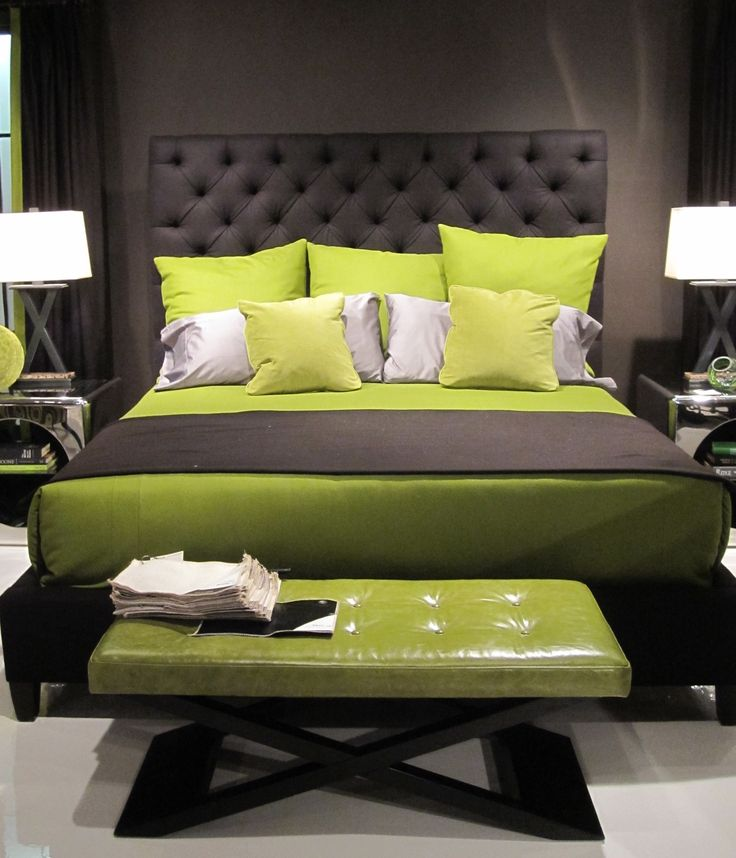 find this pin and more on market high point spring 2012 elegant lime green bedroom designs - Green Bedroom Design