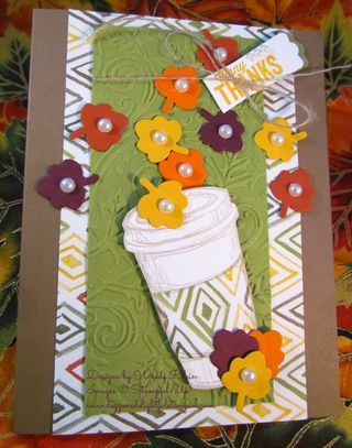 Stampin' Up!  Mojo 362, Perfect Blend, Fun Fall Framelits, Another Thank You, Color Me Autumn DSP, Fall, Leaves, Soft Suede, Old Olive