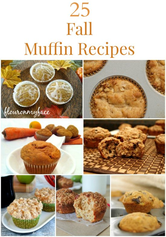 25 Fall Muffin Recipes | http://flouronmyface.com/2014/09/25-fall-muffin-recipes.html
