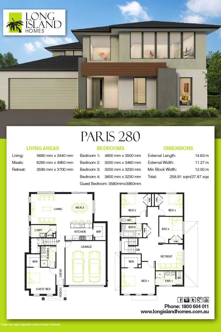 Long Island Homes 2018 Floor Plan Of The Paris 280 Architectural Design House Plans Bungalow House Design House Plans