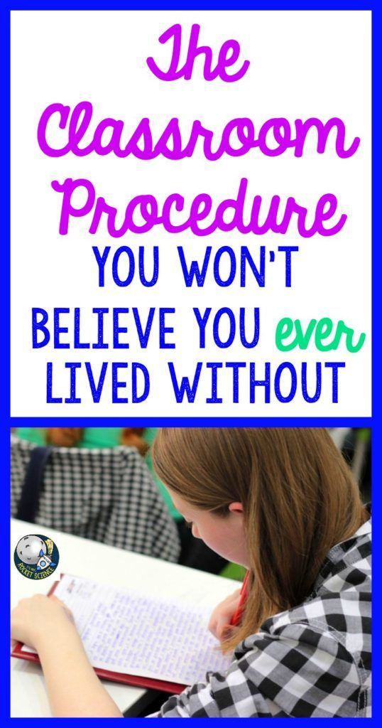 The Secondary Classroom Procedure You Can't Live Without