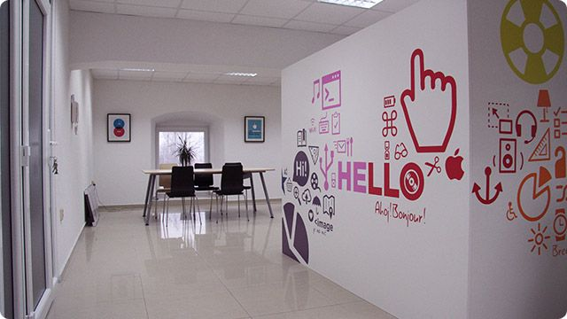 Love the wall in this office!