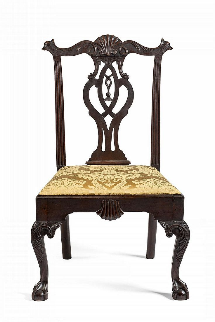 Authentic chippendale chairs - Pennsylvania Chippendale Carved Cherrywood Side Chair Philadelphia 1770 1790