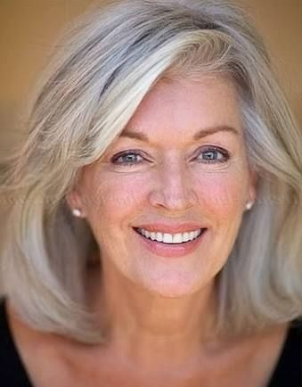 Image result for hair styles medium to long hair for women over 50 with glasses round face