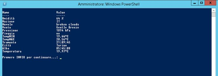 PowerShell, OpenWeather Script – Dennis Anfossi