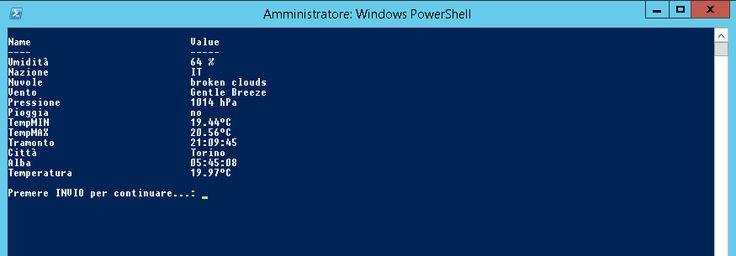 PowerShell, OpenWeather Script – Dennis Anfossi