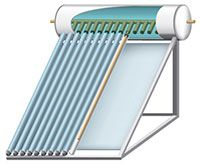 Solar Water Heaters. This is a good guide to explain what is available and how it works... there are also many links to other Energy Star products and information. Pictured here is the most efficient type os solar water heater, an evacuated tube collector.
