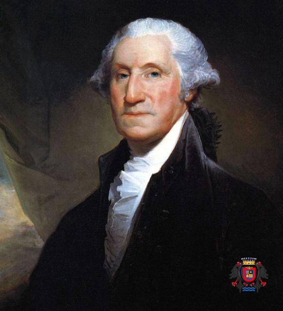 George Washington, descendant du Comte Cassius et de Uthman Ibn Affane, troisième Calife de l'Islam est le chef d'état-major de l'Armée continentale pendant la guerre d'indépendance (1775-1783) avant d'être le premier président des États-Unis (1789-1797). | http://kazi.info/1IMMVPW
