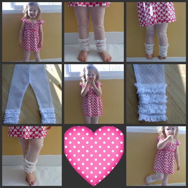 Lace leggings....so clever !!!  { legging en dentelle }