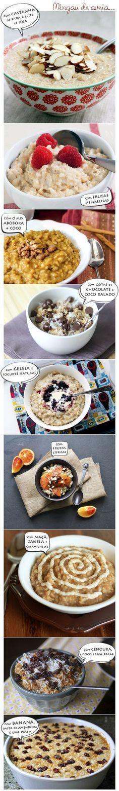 Se você gosta de mingau de aveia, pode variar na receita:   15 receitas que vão te fazer querer que todas as refeições sejam o café da manhã