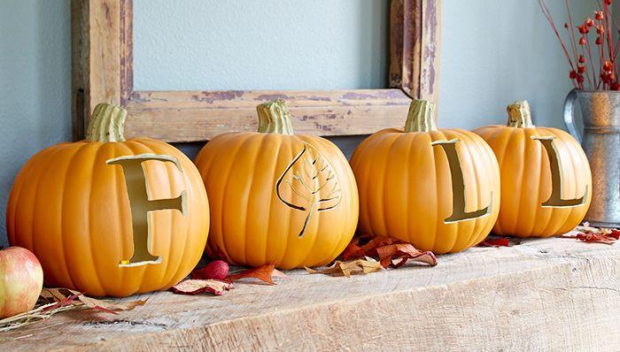 Carve a Fun Faux Pumpkin