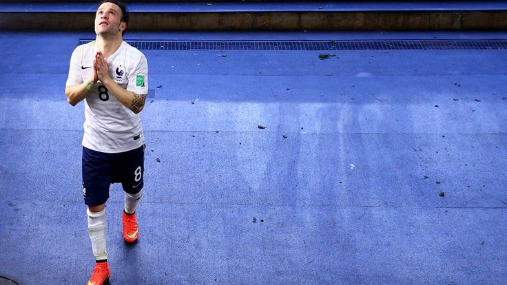 2014 FIFA World Cup Brazil™: France-Nigeria -Mathieu Valbuena of France celebrates the win in the tunnel