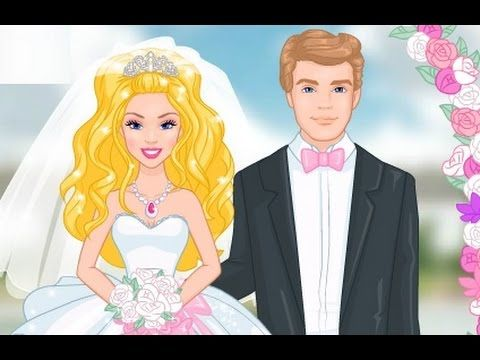 Barbie Princess Wedding Accident With Her love Ken - Barbie Cartoon Game...