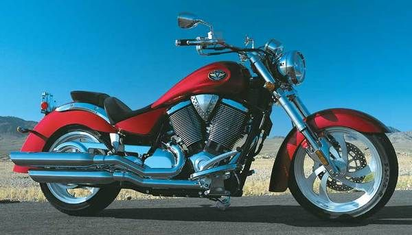 2004 Victory Kingpin Red  #motorcycles