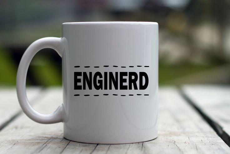 Coffee Mug - Enginerd - Engineering - Great Gift for Professor, Teacher, or Student